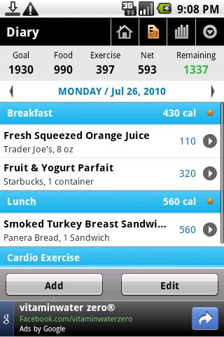 Calorie Counter – MyFitnessPal Android Health