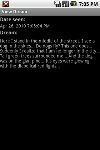 Dream Diary Android Lifestyle