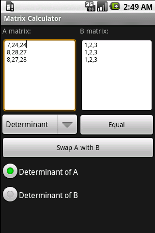 Matrix Calculator Android Tools