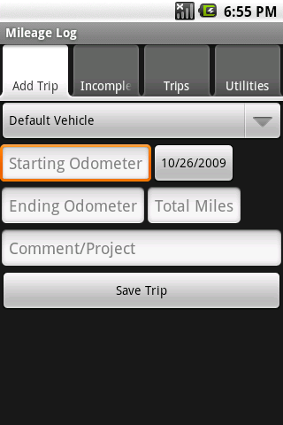 Mileage Logger Android Travel