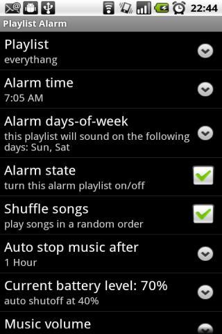 Playlist Alarm Android Lifestyle