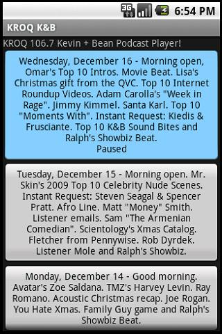 KROQ 106.7 Kevin+Bean Podcast Android Multimedia