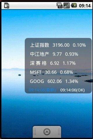 StockPrice Widget Android Finance