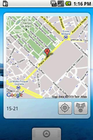 My Location Widget (Cupcake) Android Lifestyle