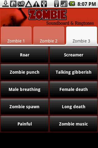 Zombie Soundboard & Ringtones Android Social