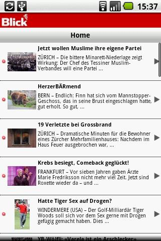 Blick.ch Newsportal Android News & Weather