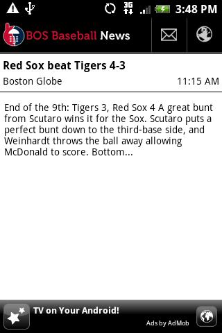BOS Baseball News Android Sports