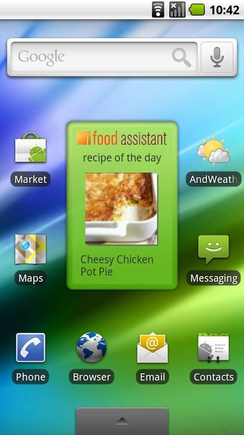 iFood Asst Recipe Widget Android Lifestyle