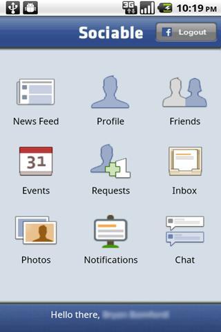 Facebook Client (Sociable) Android Social