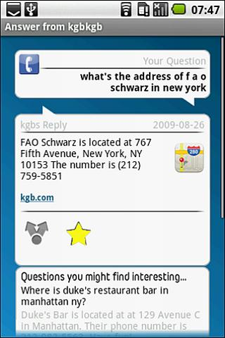 kgb Answers Android Reference