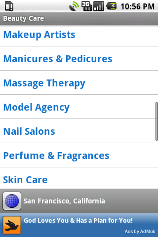 Beauty Care Android Shopping
