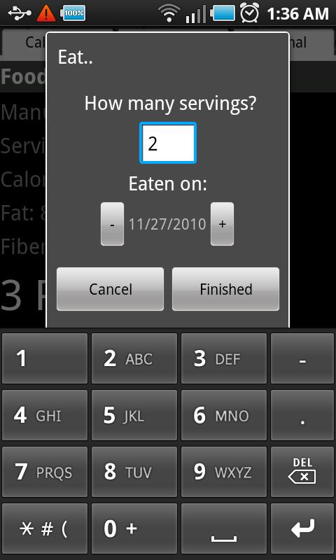 Diet Points Calculator Android Lifestyle