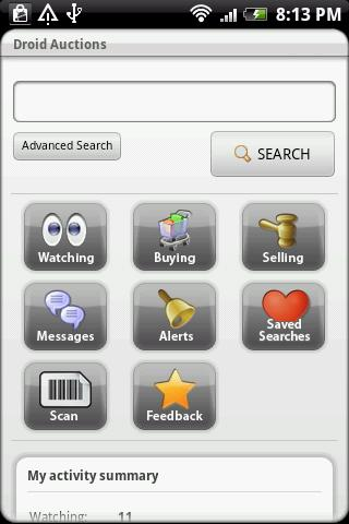 Droid Auctions for eBay Android Shopping