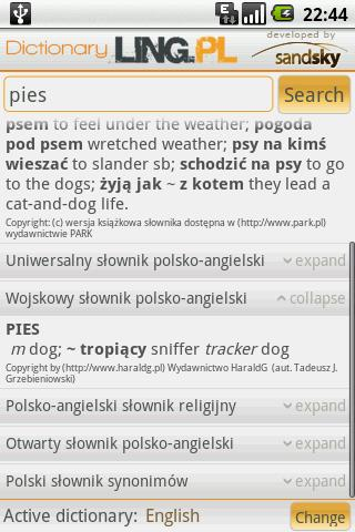 Dictionary LING.pl Android Reference