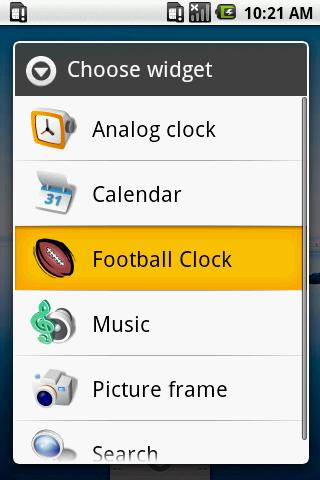 FOOTBALL CLOCK Android Sports