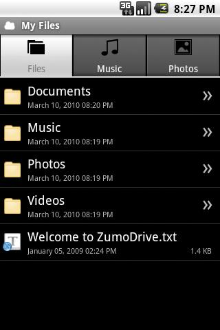 ZumoDrive Android Multimedia