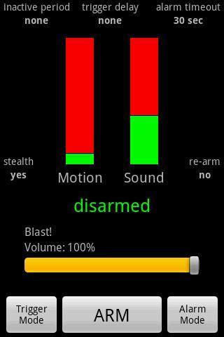Motion & Sound Alarm Android Entertainment
