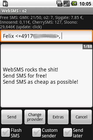 WebSMS (old) Android Communication