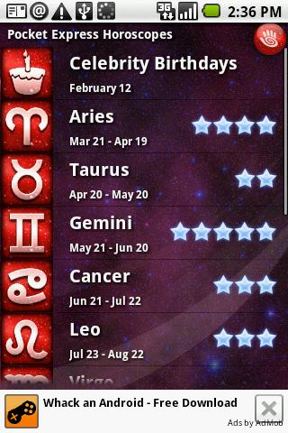 Pocket Express Horoscopes Android Lifestyle