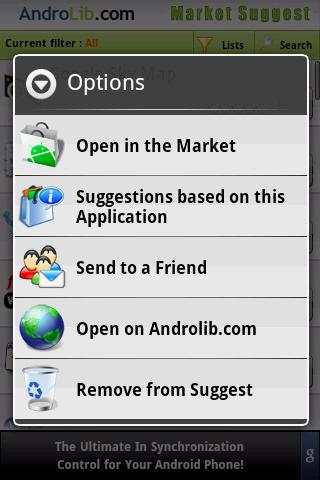 Market Suggest Android Shopping