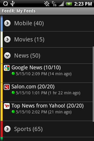 FeedR News Reader Android News & Weather