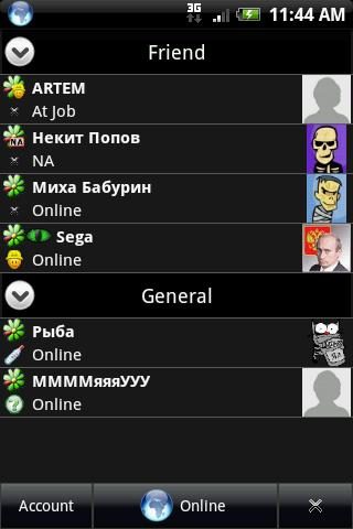 ICQLive beta Android Communication