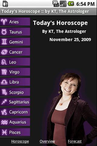 Today's Horoscope by KT Android Entertainment