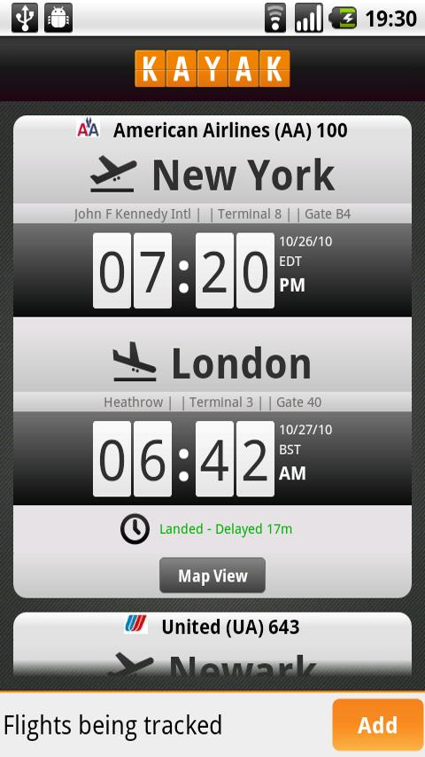 Kayak Flight and Hotel Search Android Travel & Local
