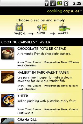 Cooking Capsules Taster Android Lifestyle