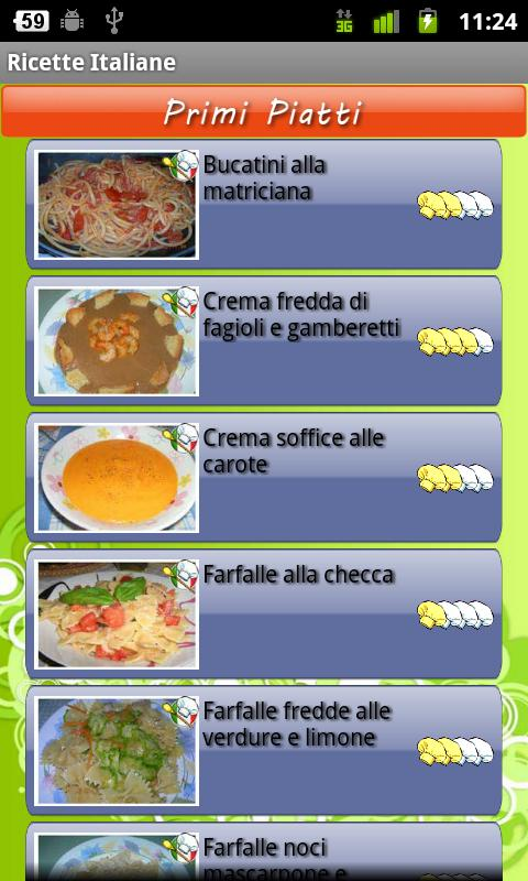 Ricette Italiane Android Lifestyle