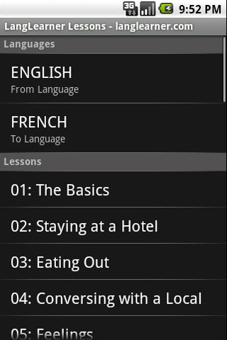 LangLearner Japanese Lessons Android Travel & Local