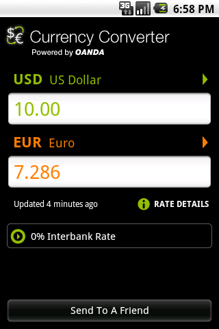 OANDA Currency Converter Android Travel