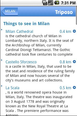 Milan Travel Guide by Triposo Android Travel
