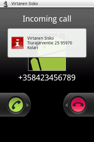 CallerInfo Beta Android Communication