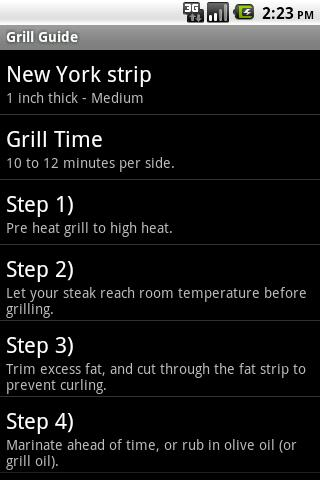 Grill Guide Android Reference