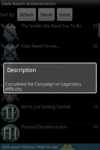 Halo Reach Achievements Android Reference