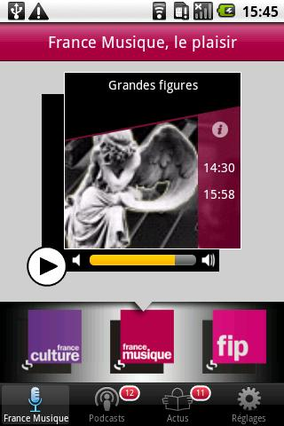 FRANCE MUSIQUE Android Multimedia