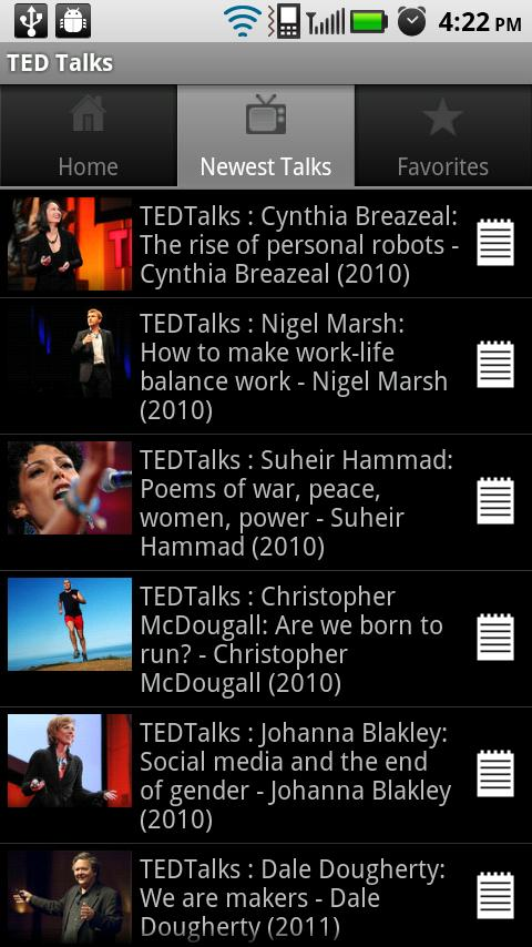 TED Talks Android Media & Video