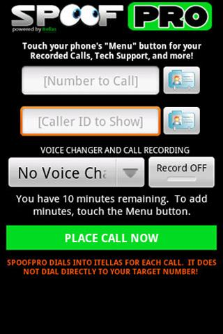 SpoofPro v2 Android Communication