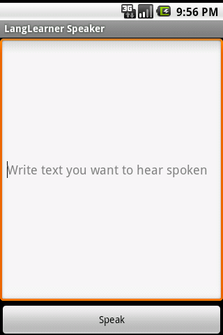 LangLearner Speaker Android Communication
