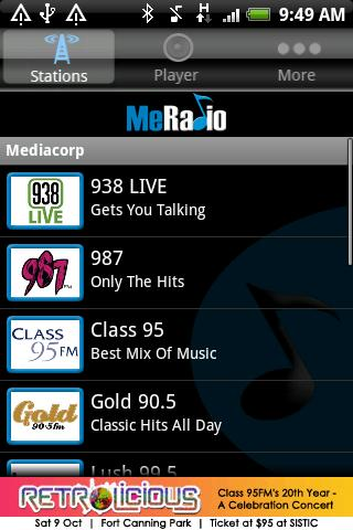 MeRadio Android Entertainment