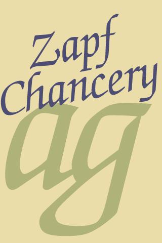 Zapf Chancery FlipFont Android Entertainment