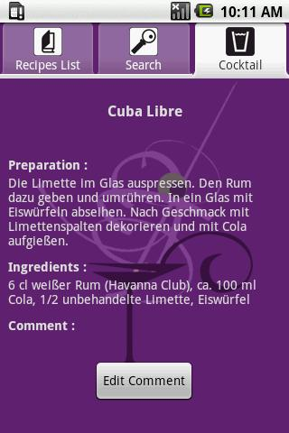 Cocktail Recipes Android Entertainment