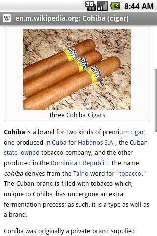 Fake Cohiba Browser Android Lifestyle