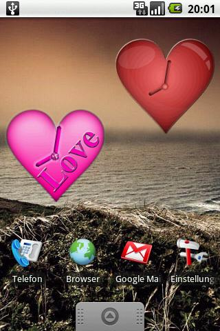 Heart Clock Widget Android Lifestyle