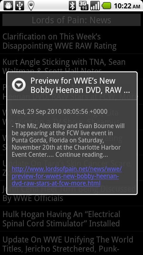 Wrestling News Android News & Weather