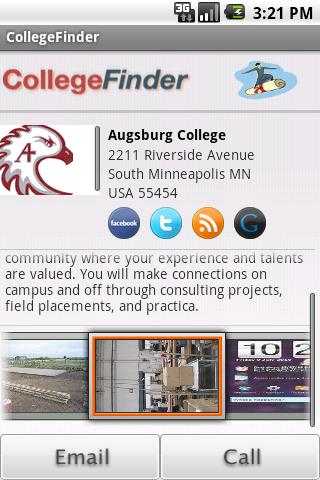 CollegeFinder Android News & Weather