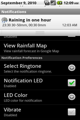 HKRainDroid Android Weather