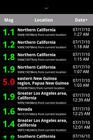 Earthquake Lite Android News & Weather
