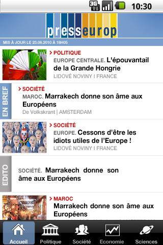 Presseurop, all the European Android News & Magazines